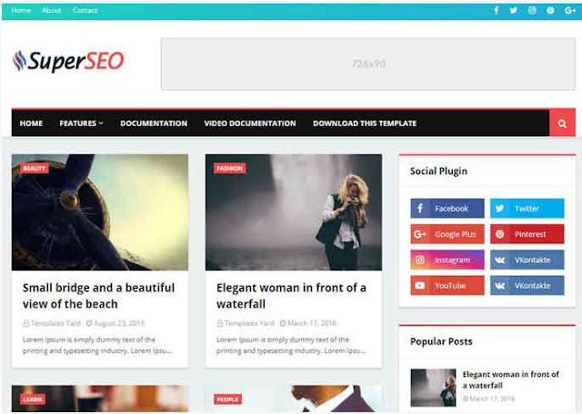 Super Seo Optimised Blogger Template