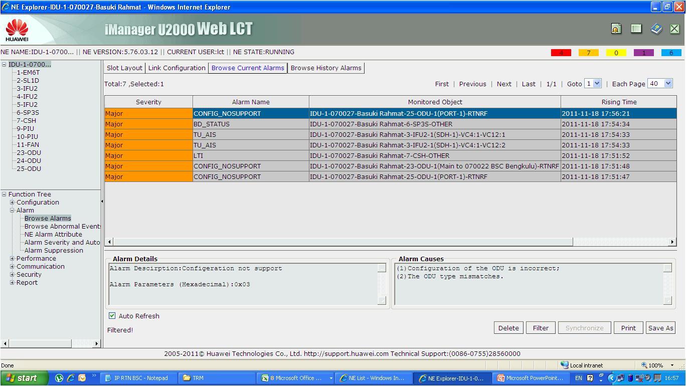 acibut: Troubleshot Huawei RTN: ODU Modulation Not Support