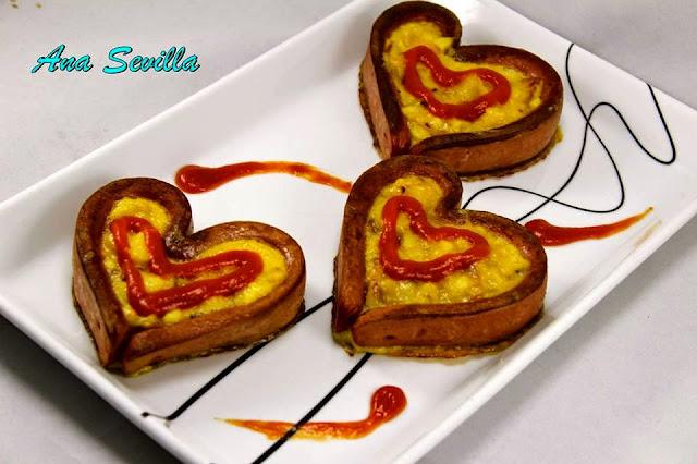 Corazones de tortilla con Thermomix, olla y tradicional con thermomix