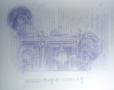 Ballpoint pen sketch about the; I Am-Contemporary Women Artists of Africa exhibition