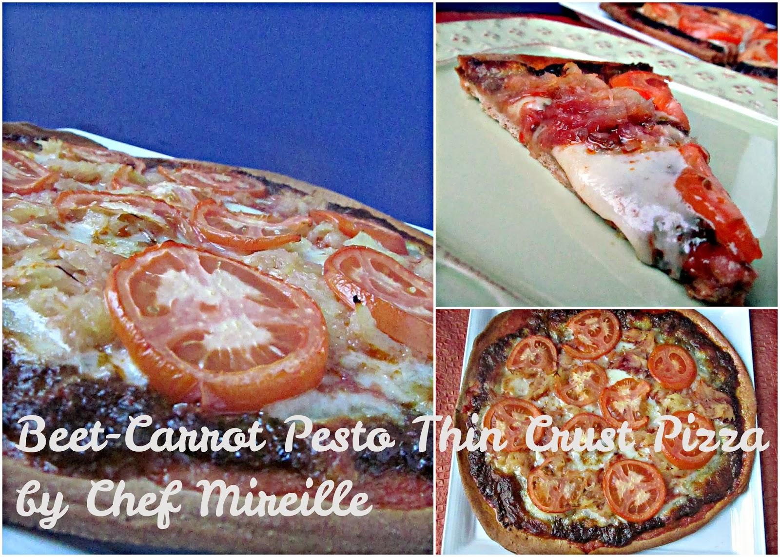 Beet-Carrot Pesto Thin Crust Pizza - The Schizo Chef