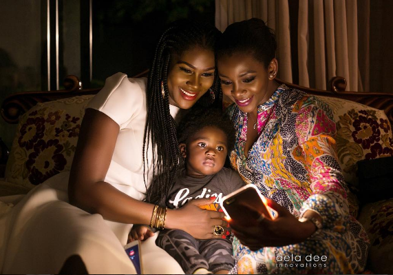 Nollywood Actress Genevieve shared lovely photo of Stephanie and her son Maxwell