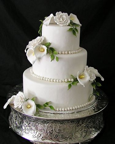 wedding cakes with roses and calla lilies wedding cakes with roses and calla lilies 26105