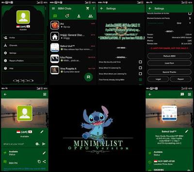 BBM Mod Minimalist Oppo 2.9.0.44 Keren
