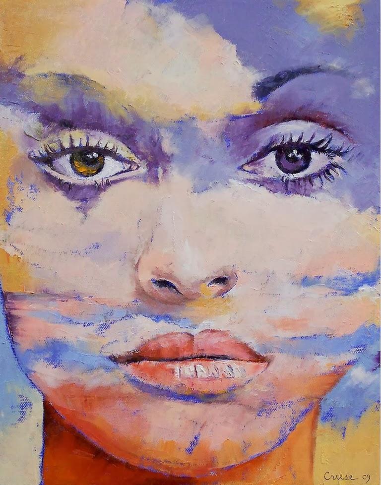 Arte pinturas leo abstractos con rostros femeninos for Imagenes de cuadros abstractos faciles