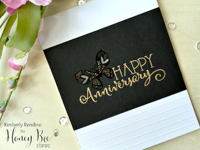 golden anniversary | butterfly | handmade card | honey bee stamps | brutus monroe | gansai iambi | starry colors | kimpletekreativity.blogspot.com