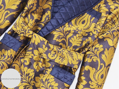mens victorian silk dressing gown quilted collar paisley luxury robe men lined long warm housecoat