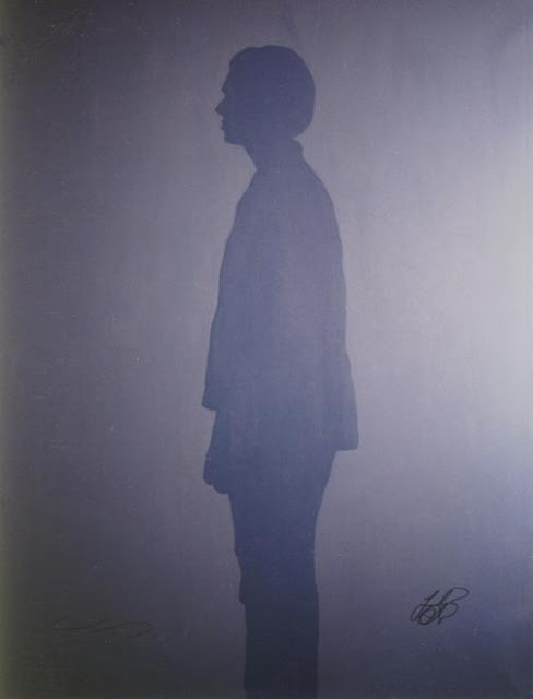 1997- Acrylic on canvas 78 ¾ X 59 1/8 in. Signed by Klaus Guingand and Leonardo DiCaprio