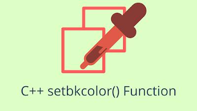 C++ setbkcolor() - Define the Background Color