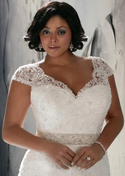 Vestido de novia para mujer con mucho busto