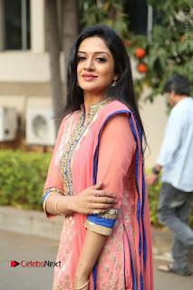 Actress Vimala Raman Stills in Beautiful Pink Salwar Kameez at (ONV) Om Namo Venkatesaya Press Meet  0132.JPG