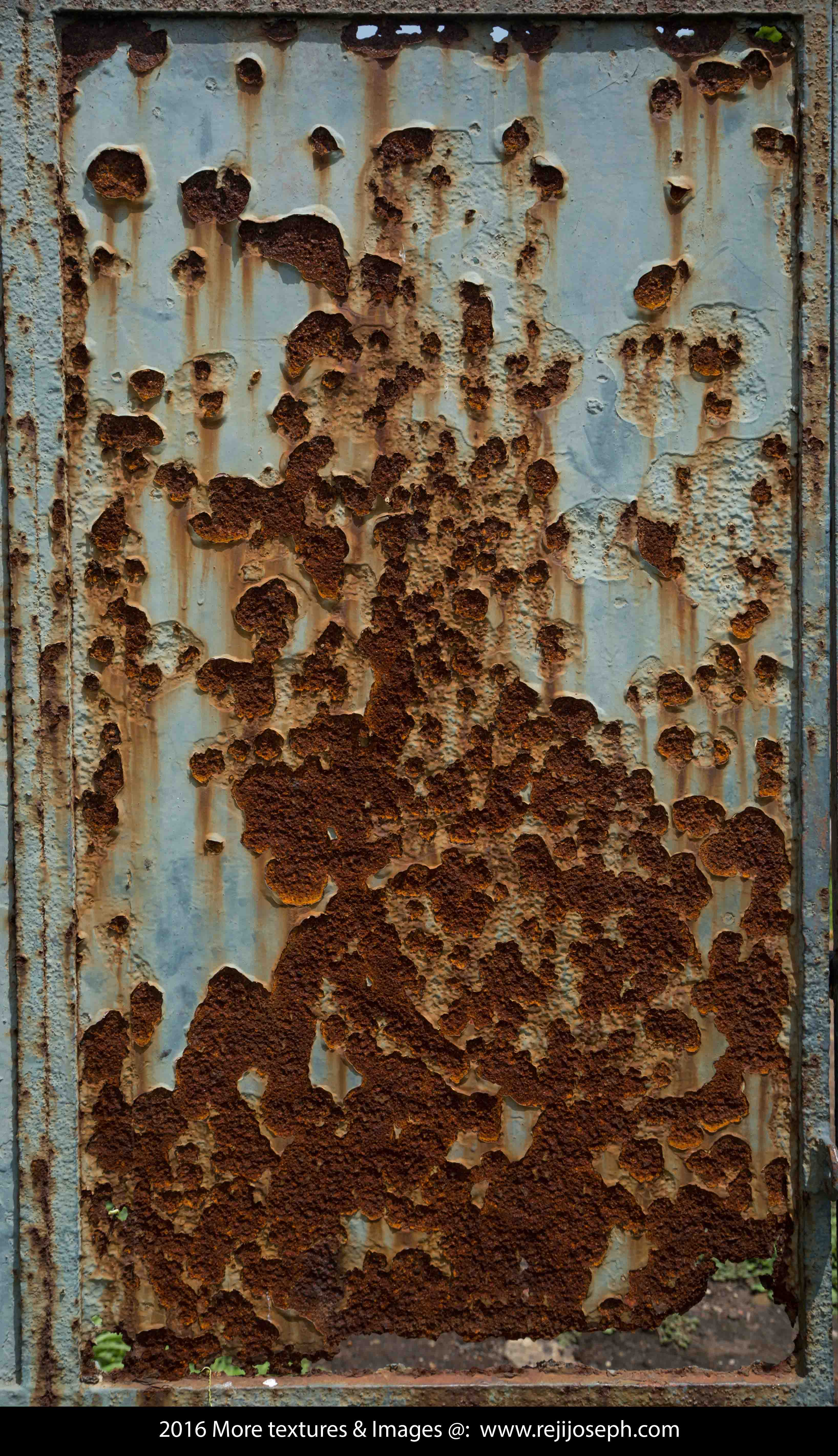 Rusty Painted metal texture 00005
