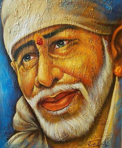 Images of Sai Baba Original Painting
