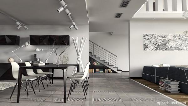 интерьер столовой в доме
