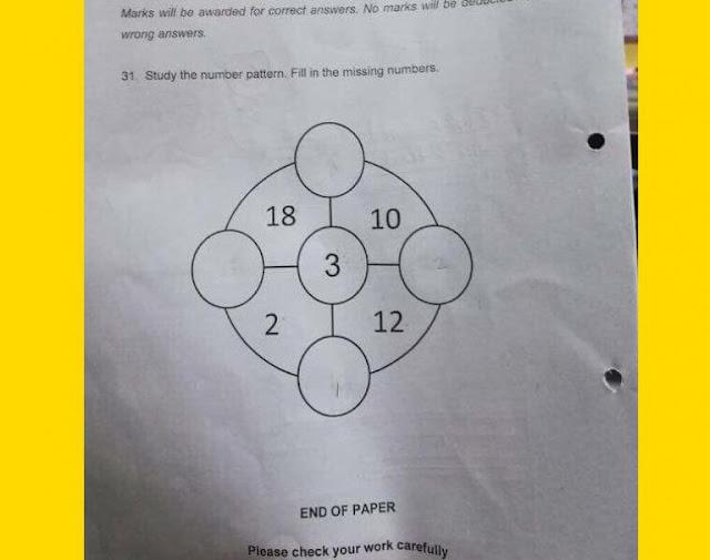 Singapore School Primary One Mathematics Question IQ