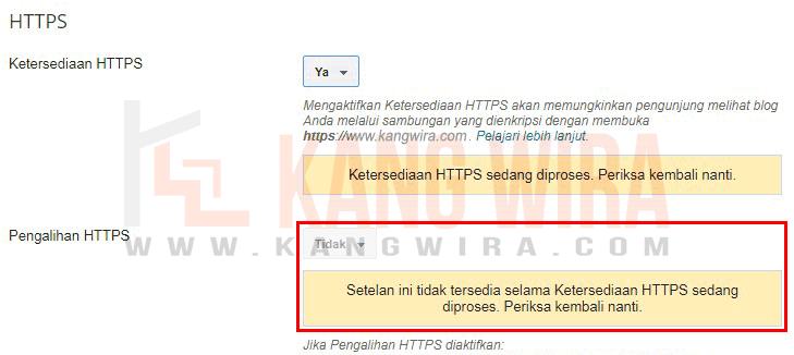 Mengalihkan HTTP ke HTTPS pada Domain TLD Blog