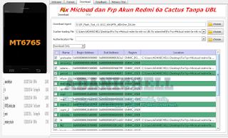Fix Micloud dan Frp Akun Redmi 6a Cactus Tanpa UBL