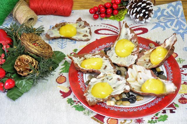 chocolate blanco, chocolate negro, crema de mandarina, mandarina, ostras, postres de lujo, postres de navidad, recetas de navidad, ostras de chocolate, las delicias de mayte,