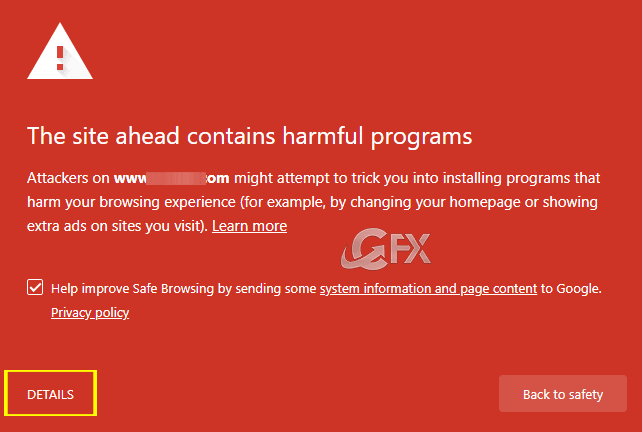 The site ahead contains harmful programs- www.ceofix.net