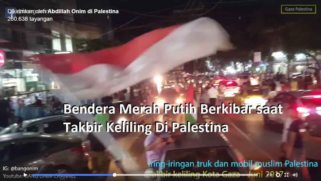 Wow Ada Bendera Merah Putih Berkibar Saat Takbir Keliling