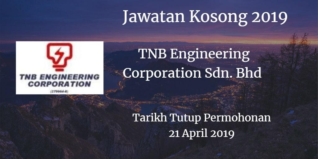 Jawatan Kosong TNB Engineering Corporation Sdn. Bhd 21 April 2019