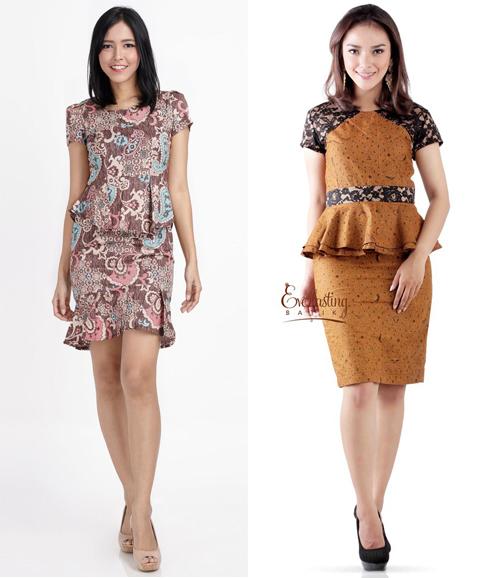 model baju peplum batik