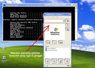 jendela net meeting dan command prompt di windows xp