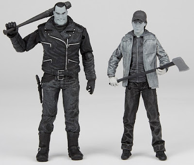 San Diego Comic-Con 2016 Exclusive The Walking Dead Black & White Edition Negan & Glenn Action Figure Box Set by McFarlane Toys x Skybound