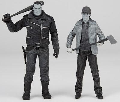 San Diego Comic-Con 2016 Exclusive The Walking Dead Black & White Edition Negan & Glenn Action Figure Box Set by McFarlane Toys x Skybound