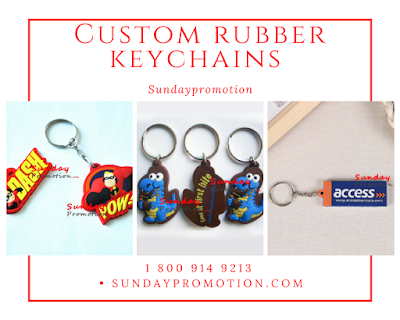 Custom rubber keychains