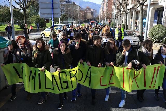 Protesta del colegio La Milagrosa