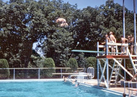 Riverside Pool 1960 View Is West To East Neale Chaney Diving Off The High Dive