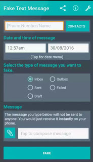 Make fake sms on android phone