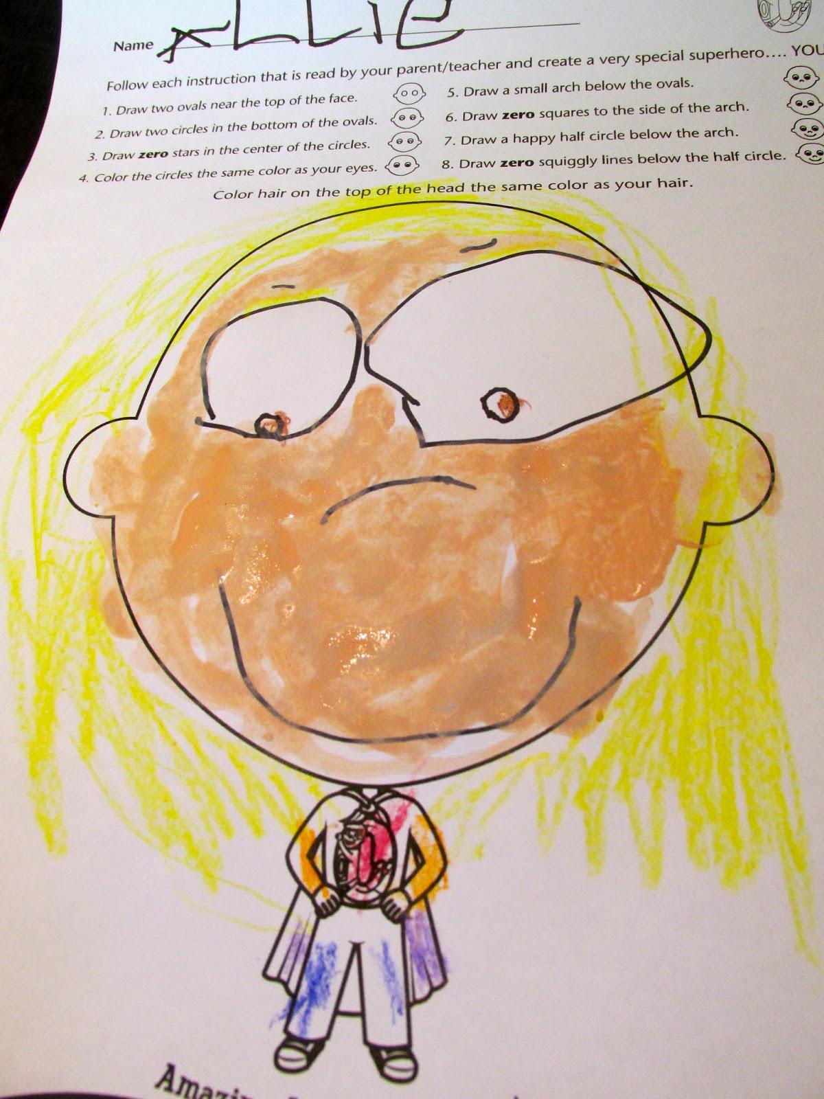 Cero actividad artística preescolar Hero Day