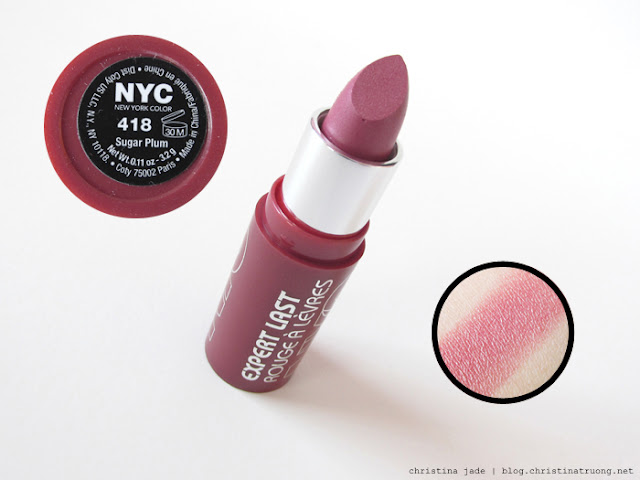 New York Color Expert Last Lipstick Swatches 418 Sugar Plum