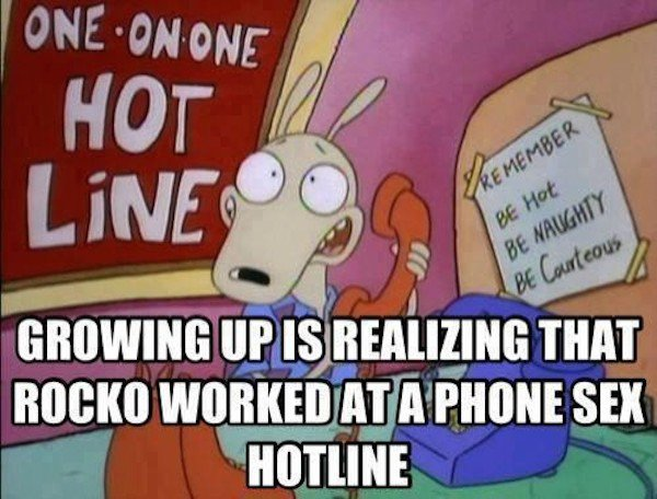 Unfortunately, Your Childhood Cartoons Weren't As Innocent As You Thought (Photos) - Technically, Rocko was a sex worker.