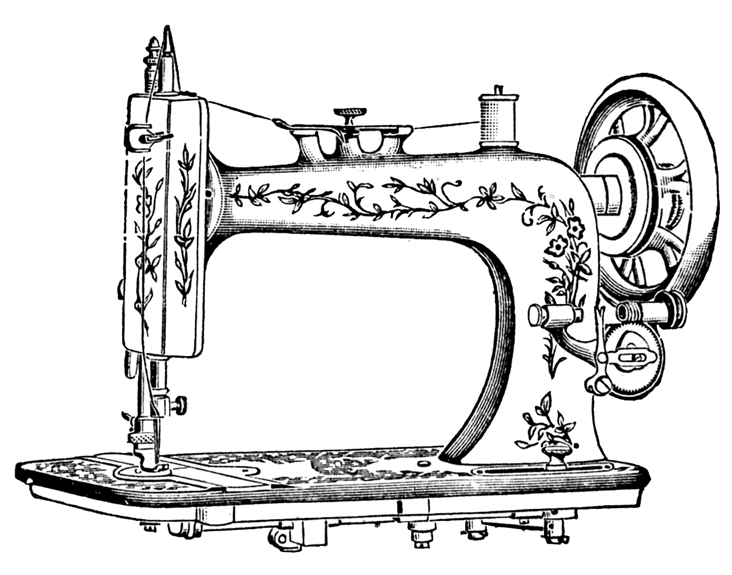 Sewing Room Clip Art Antique Sewing Machine Free