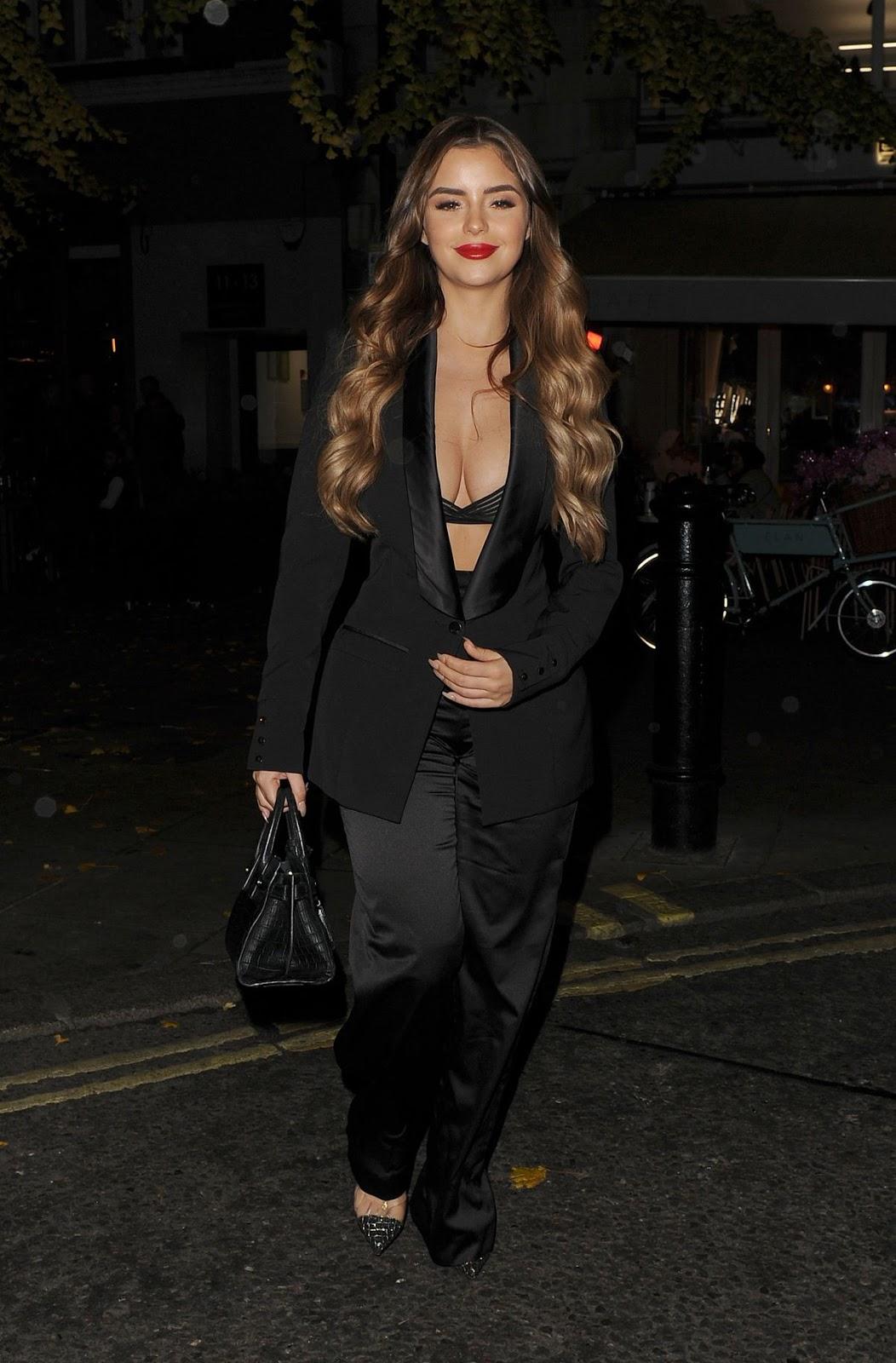 Demi Rose at Elan Cafe in London 11/16/2018