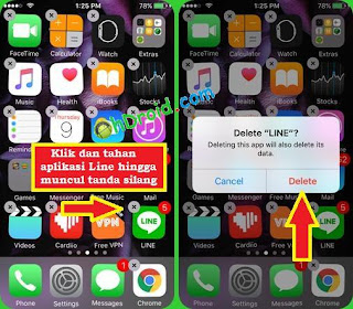 cara logout Line di iPhone