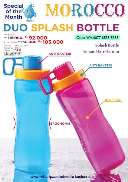 Promo Diskon Duo Splash Bottle, Morocco Maret 2018