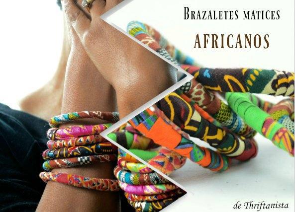 brazaletes tela africanos, telas etnicas, bisutería