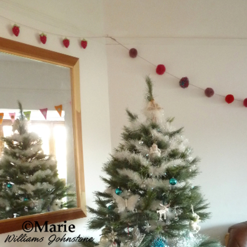 Yarn pom pom garland Christmas party decoration tree celebration craft