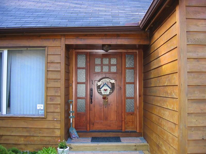 La puerta ideal madera de teca y decoraci n de exterior - Puertas de entrada de madera rusticas ...