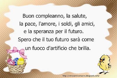 Sms  joyeux anniversaire en italien