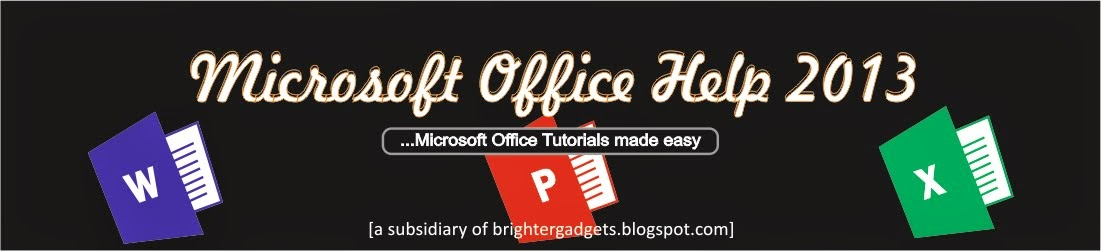 Microsoft Office 2013 Tutorials How to Design this Dark Cover page