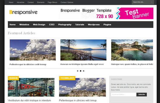 pro photo blog templates - 13 top new professional blogger templates 2013