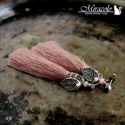 Miracolo, kolczyki z chwostami, chwost, tassel earrings