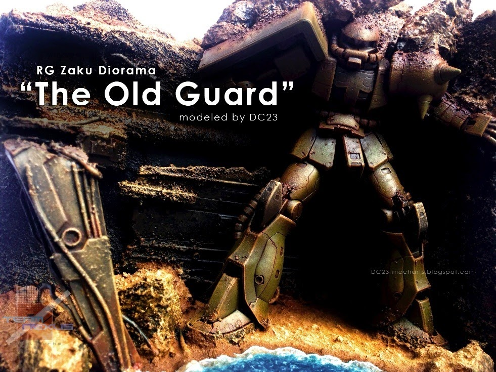 "Custom Build: RG 1/144 Zaku II Diorama ""The Old Guard"""