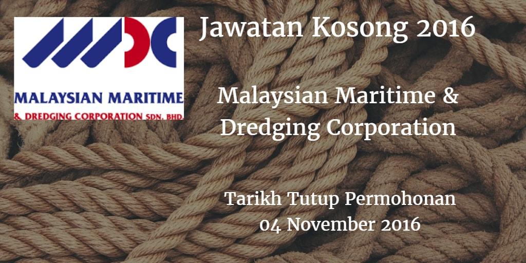 Jawatan Kosong Malaysian Maritime & Dredging Corporation 04 November 2016