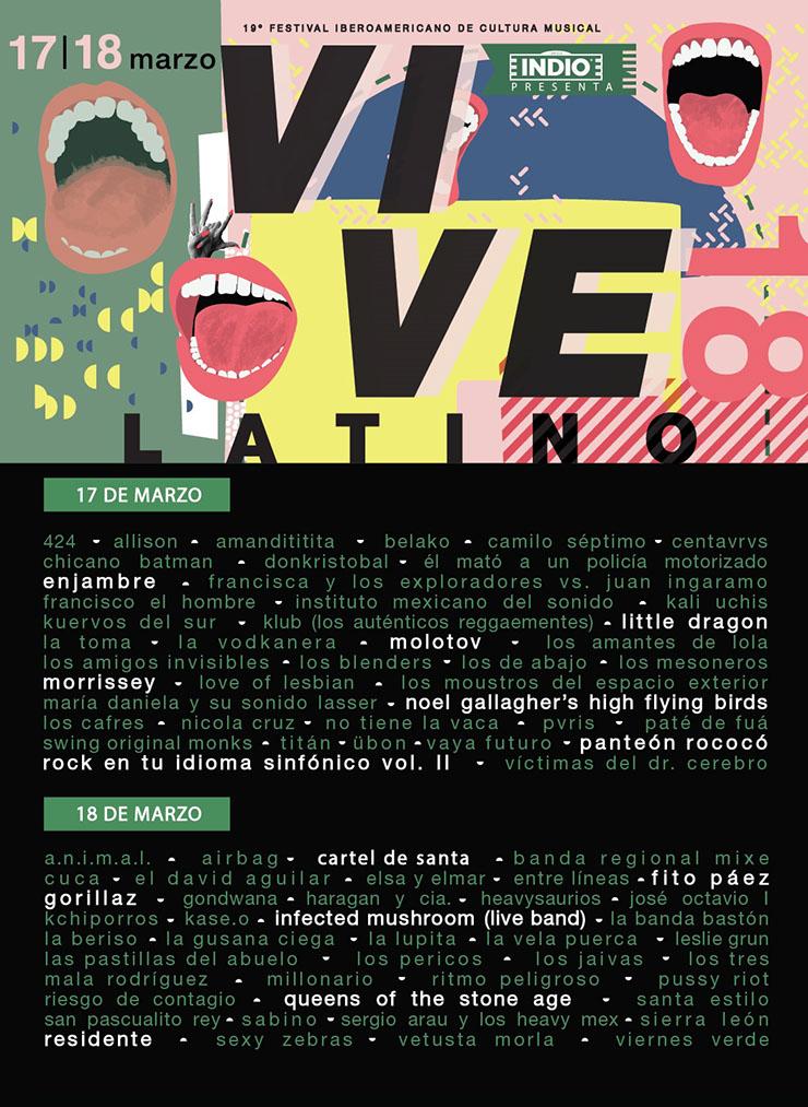 Vive Latino 17 y 18 de Marzo